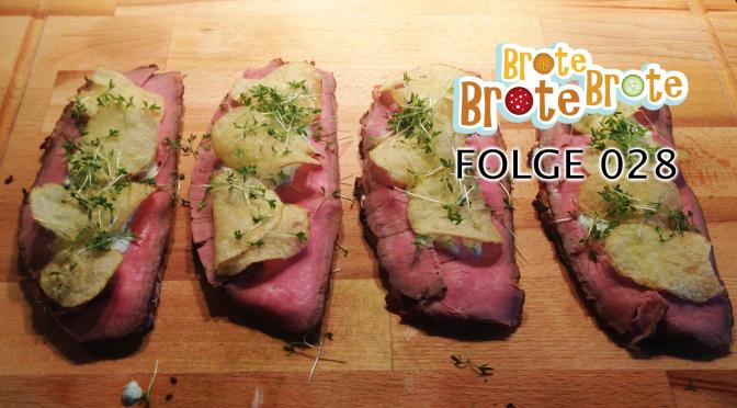 Roastbeef-Sandwich mit Kräuterdip & Chips – Folge 028