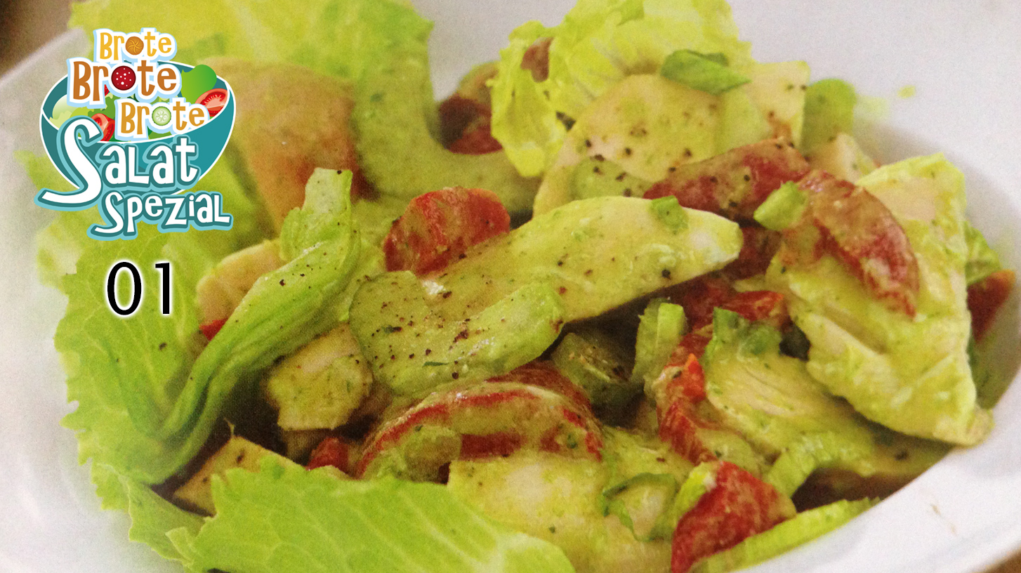 Hühnchensalat mit Pestocreme – Salat-Spezial 01