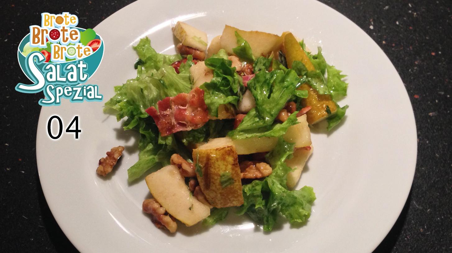 Salat mit Birnen und Knusperspeck – Salat-Spezial 04