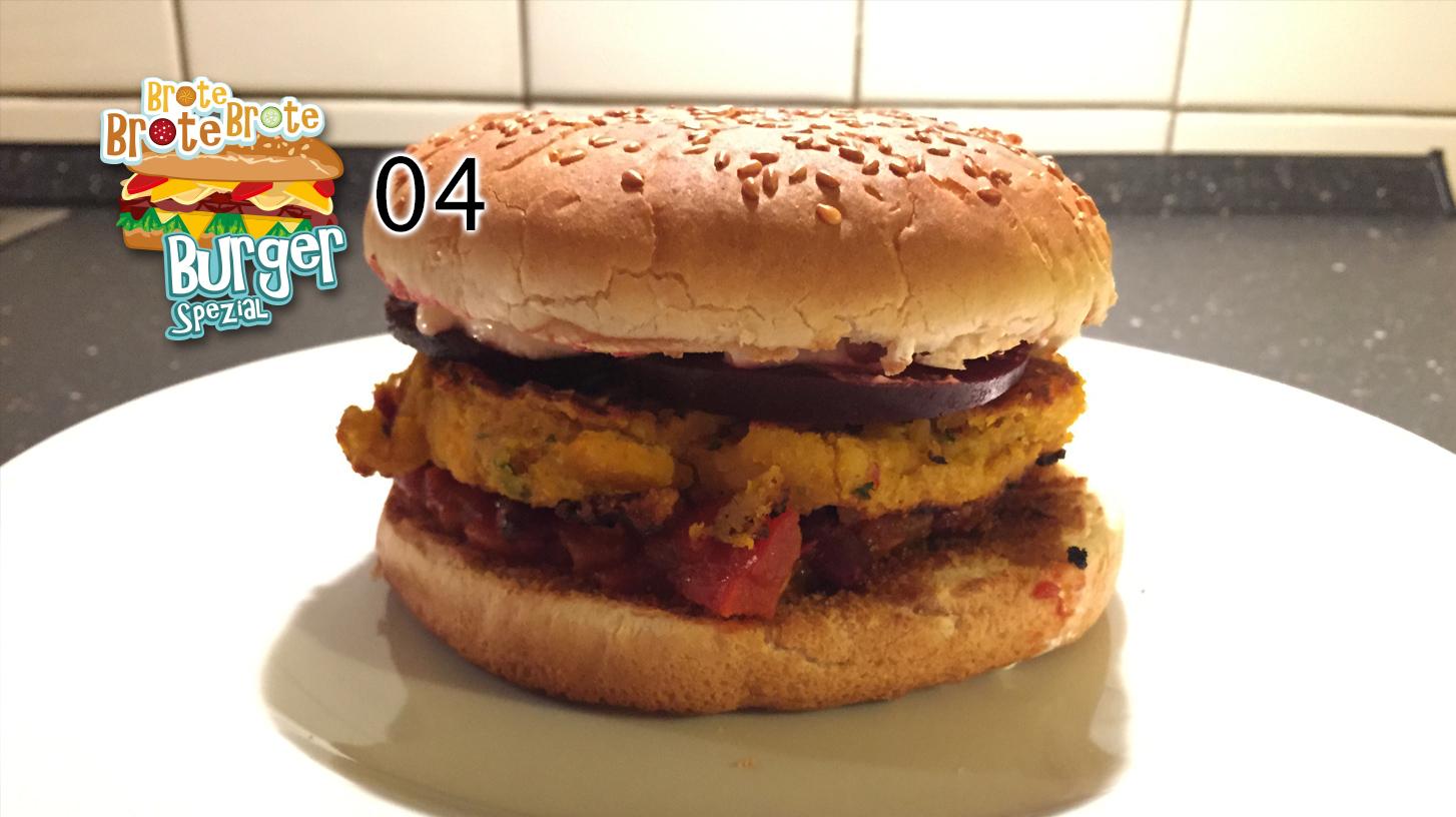 Vegetarischer Kichererbsen-Burger – Burger-Spezial 04