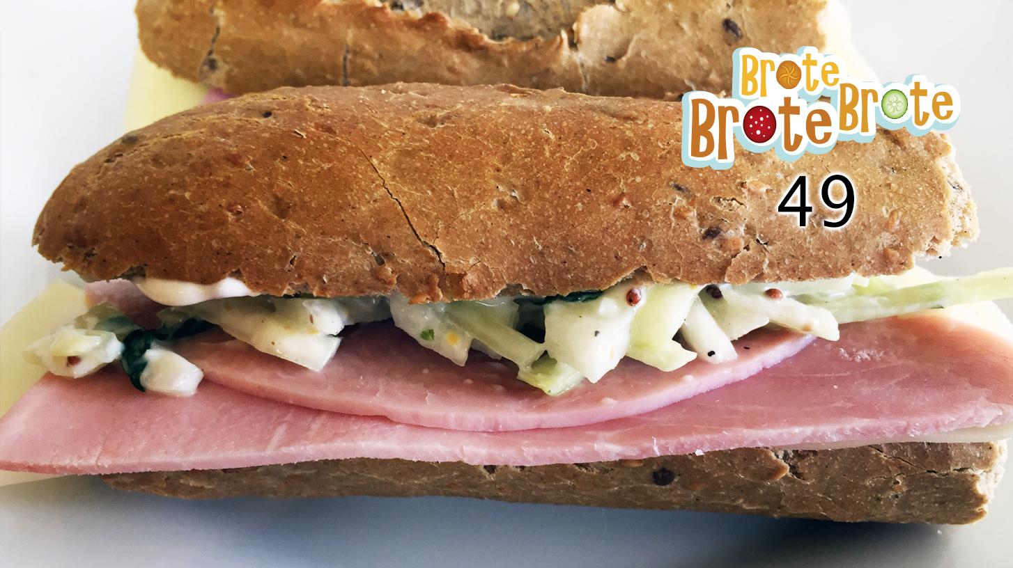 Folge 049 – Schinken-Käse-Baguette mit Apfel-Coleslaw