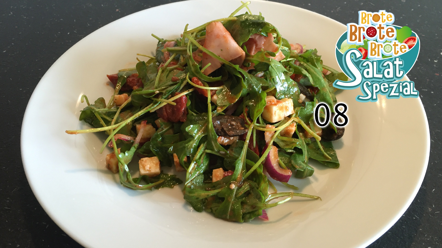 Italienischer Wurstsalat mit Tomaten-Dressing – Salat-Spezial 08