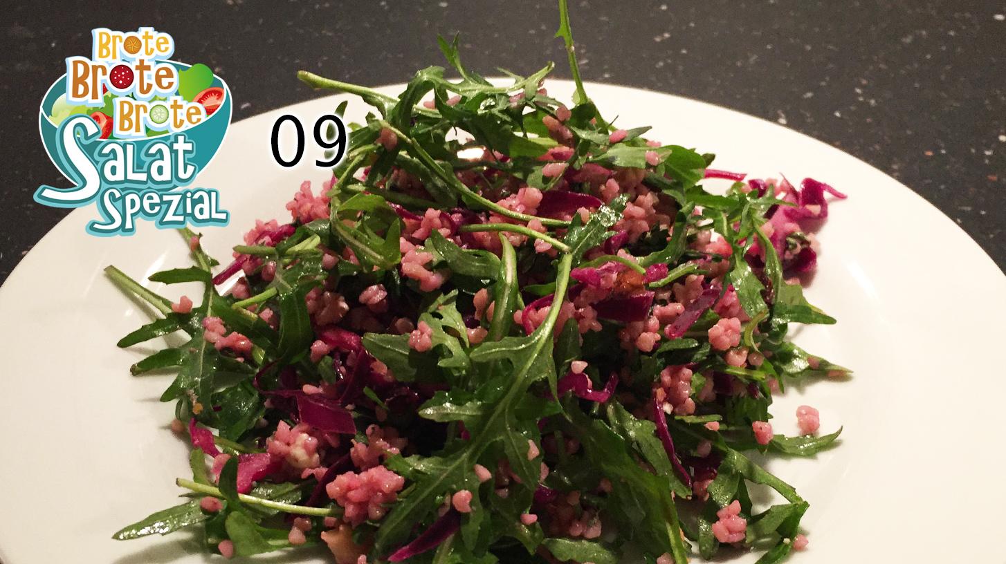 Lauwarmer Rotkohlsalat mit Bulgur – Salat-Spezial 09