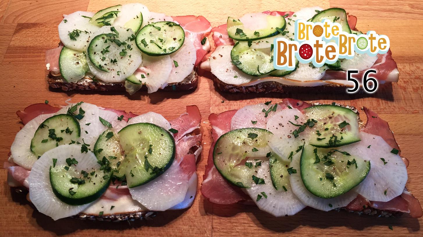 Folge 056 – Rettich-Gurken-Brot mit Bauernschinken