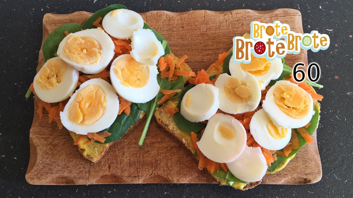 Folge 060 – Ei-Brot mit Spinat, Möhre und Curry