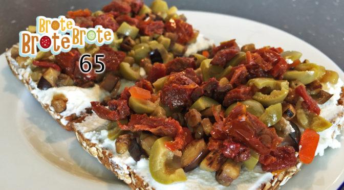 vegetarisches Auberginen-Ricotta-Brot