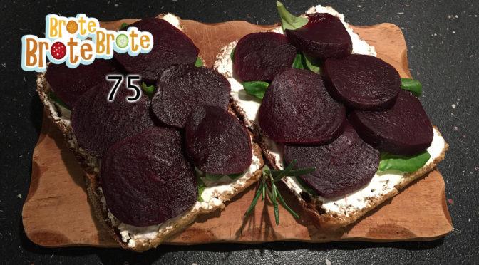 Vegetarisches Ziegenkäse-Rote Bete-Brot