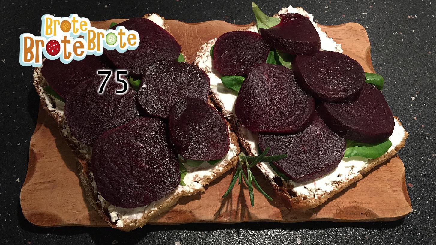Folge 075 – Vegetarisches Ziegenkäse-Rote Bete-Brot