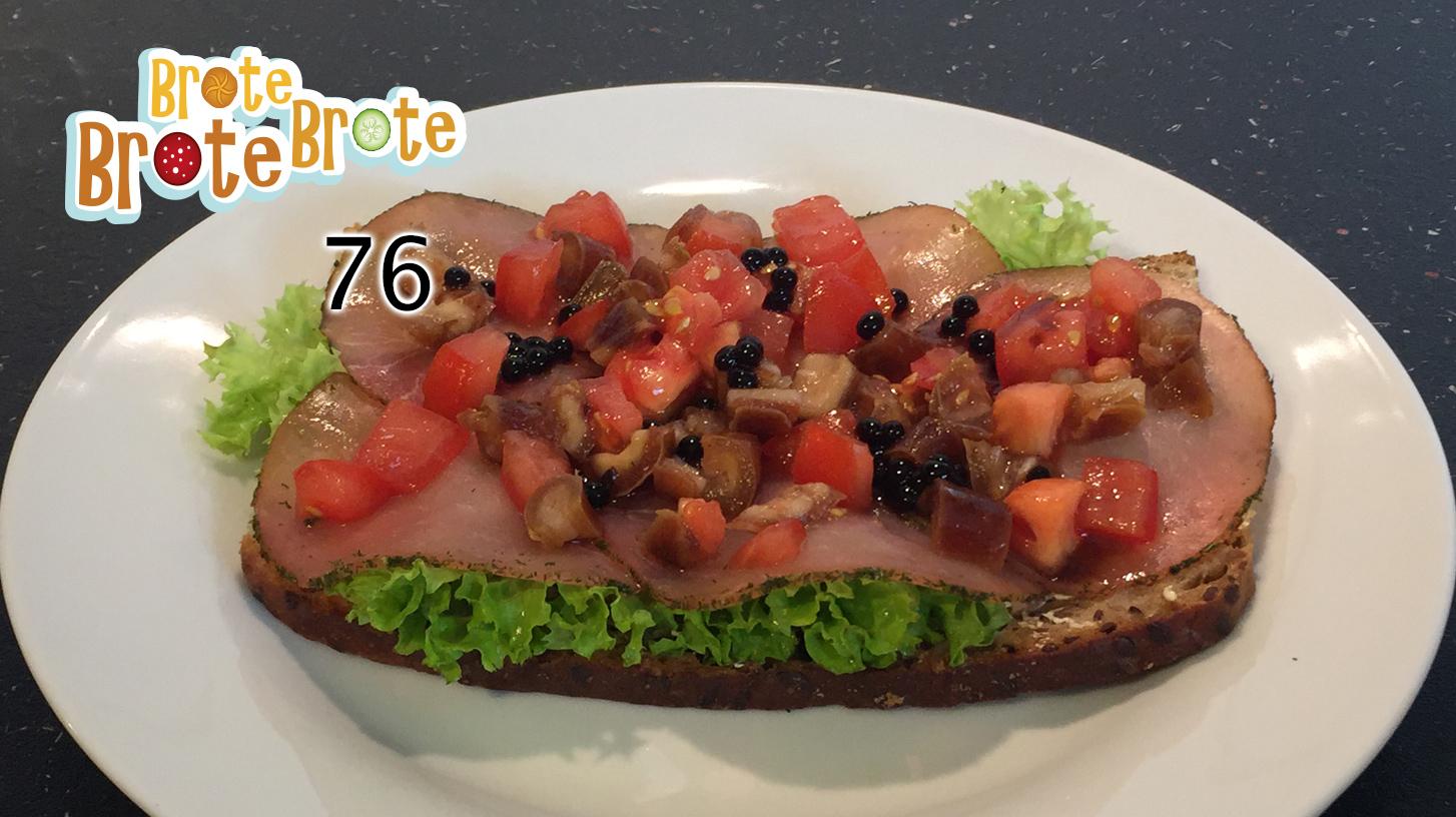 Dattel- und Lachsfleisch-Brot