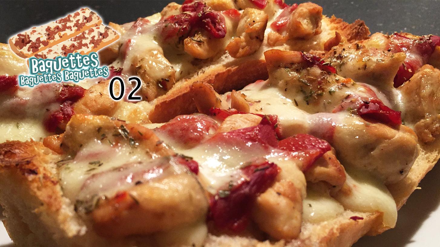 Hühnchen-Paprika-Baguette – Baguettes Baguettes Baguettes 02