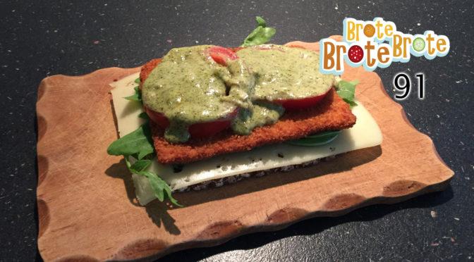 Schnitzel-Pesto-Brot