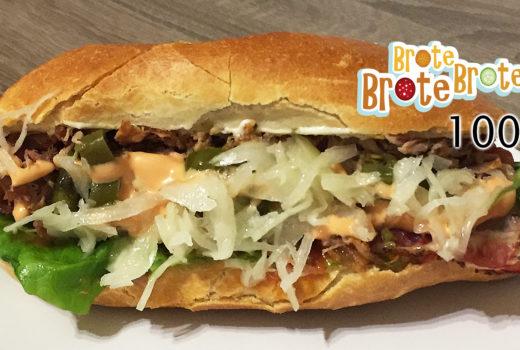 Schmelzkäse-Pork-Sandwich