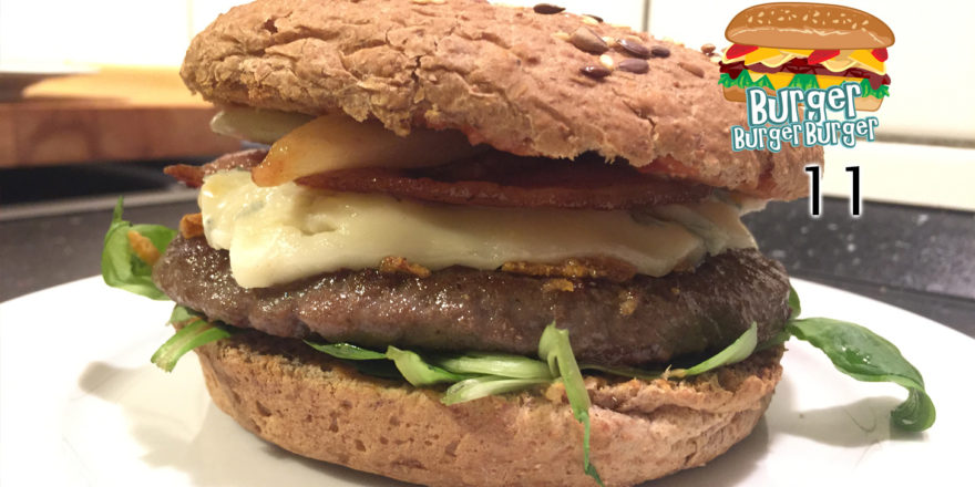 Winter-Burger mit Birnen & Gorgonzola