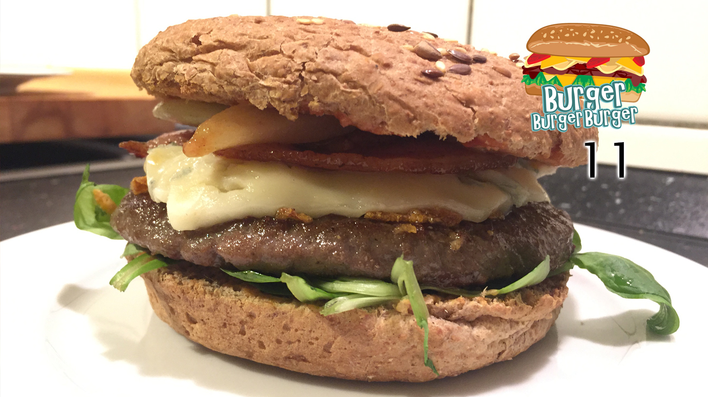 Winter-Burger mit Birnen & Gorgonzola – BurgerBurgerBurger 11