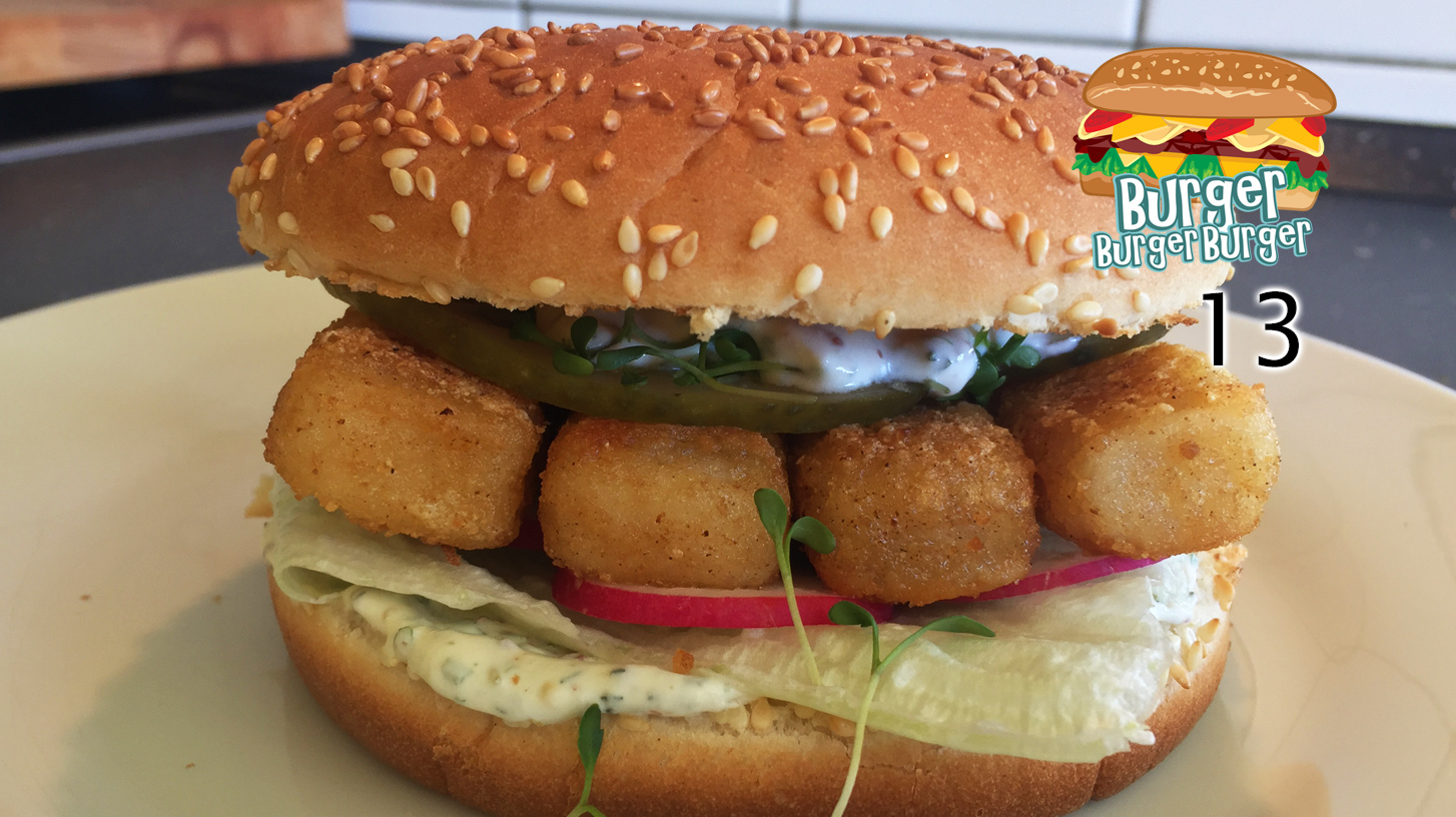 Bratfisch-Burger mit heller Sauce  – BurgerBurgerBurger 13